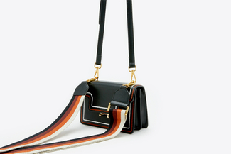 SB-D090 Black Retro Satchel Crossbody