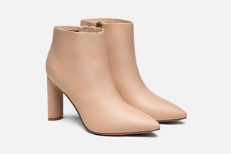 6655-503A Nude Heeled Ankle Boots