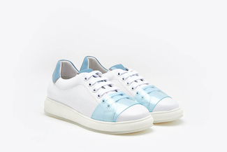 505-12 Light Blue Fluorescent Neon Sneakers