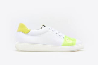 505-12 Yellow Fluorescent Neon Sneakers