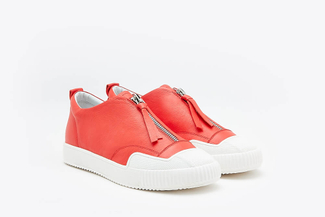 81-1A Melon Athleisure Zipped Sneakers