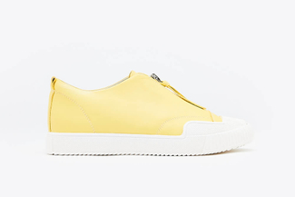 81-1A Yellow Athleisure Zipped Sneakers