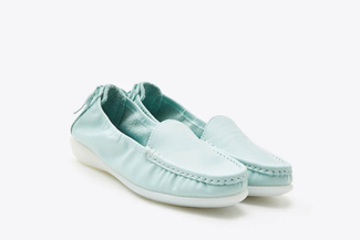 8AA67-1 Light Blue Slip-on Loafers
