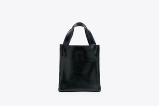 SB-D078 Black Nautical Oversized Tote Bag