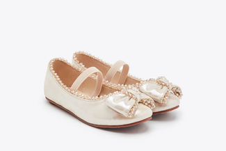 BB08-166 Almond Kids Dazzling Gems Flats