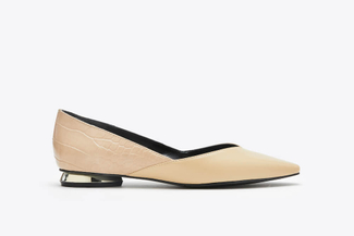 17206-100 Almond Embossed V-Cut Flats