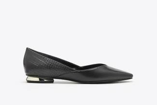 17206-100 Black Embossed V-Cut Flats