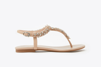 1833-31 Almond Stars Embellished T-Bar Sandals