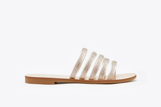 3088-90 Almond Diamante Embellished Cage Slides
