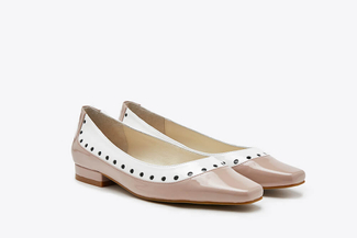 5118-6 Nude Duo-Toned Square Toe Pumps
