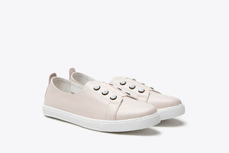 668-3 Pink Contrast Stud Embellished Sneakers