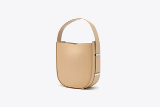 S2022 Almond Bucket Leather Tote