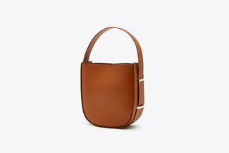 S2022 Brown Bucket Leather Tote