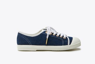 B1933-12 Blue Denim Laced Sneakers