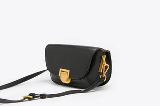 SB-D248 Black Billy Leather Compact Crossbody