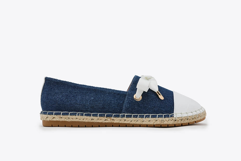 619-1 Blue Lace Slip-on Canvas Leather