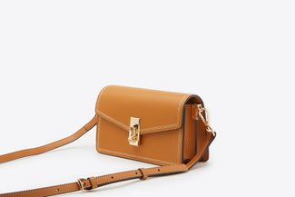 87188-1 Mud Envelope Cross-Body Mini Leather Bag