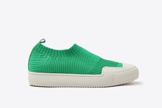 5M-1 Green Slip-On Sock Sneakers