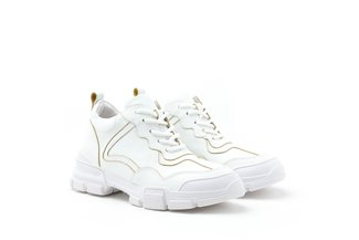 1858N-08B White Iridescent Trimmings Chunky Platform Sneaker