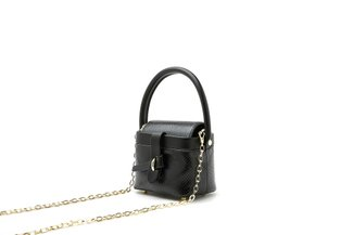 11070 Black Top handle crossbody boxy bag