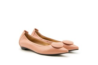 8530-23 Deep Pink Ornamental Pointed Toe Flats