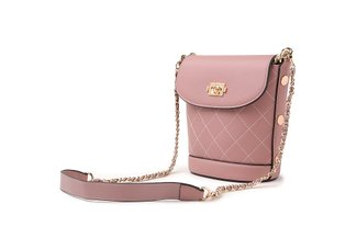 88175-1 Leather Crossbody Chain Bag