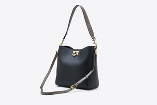 900262 Black Contrast Everyday Top Handle Handbag