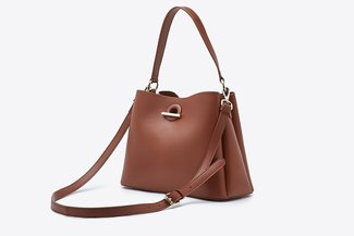 900299 Mud Relaxed Cross-Body Handbag