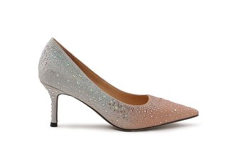 2005-06 Champagne Glittering Diamante Ombre Leather Heels