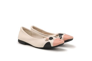 "8889-7 Beige The ""Moo Moo"" Flats"